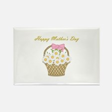 Happy Mother's Day (white daisies) Rectangle Magne