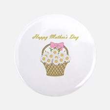 "Happy Mother's Day (white daisies) 3.5"" Button"