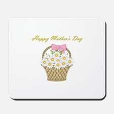 Happy Mother's Day (white daisies) Mousepad