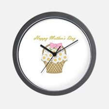 Happy Mother's Day (white daisies) Wall Clock
