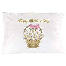 Happy Mother's Day (white daisies) Pillow Case