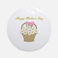 Happy Mother's Day (white daisies) Ornament (Round