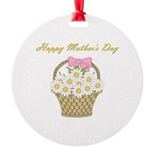 Happy Mother's Day (white daisies) Ornament