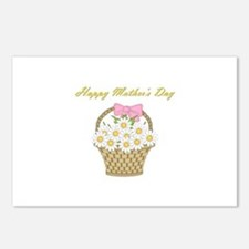 Happy Mother's Day (white daisies) Postcards (Pack