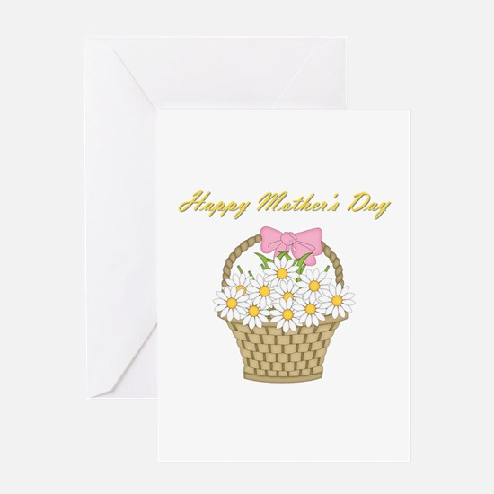 Happy Mother's Day (white daisies) Greeting Card