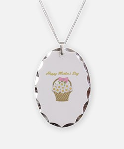 Happy Mother's Day (white daisies) Necklace