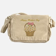 Happy Mother's Day (white daisies) Messenger Bag