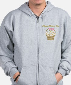 Happy Mother's Day (white daisies) Zip Hoodie