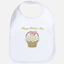 Happy Mother's Day (white daisies) Bib