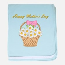 Happy Mother's Day (white daisies) baby blanket