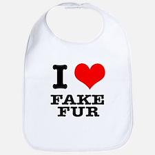 I Heart (Love) Fake Fur Bib