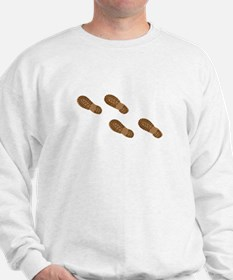 Hiking Boot Print Tracks Sweatshirt