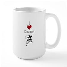 I Heart Cowboys (Dark) Mugs