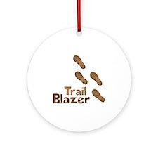 Trail Blazer Ornament (Round)