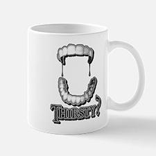 Vampire Teeth Grey Mug