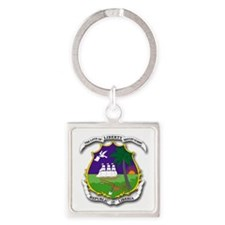 Seal of Liberia Square Keychain