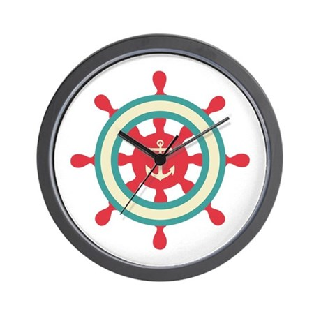 Anchor Ship Wheel Wall Clock by Hopscotch4