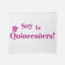 Soy la Quinceañera Throw Blanket