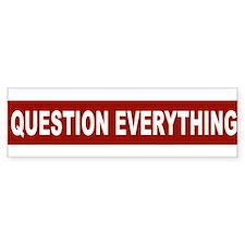question_everything_arial_red Bumper Bumper Bumper Sticker