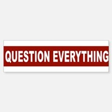 question_everything_arial_red Bumper Bumper Bumper Sticker