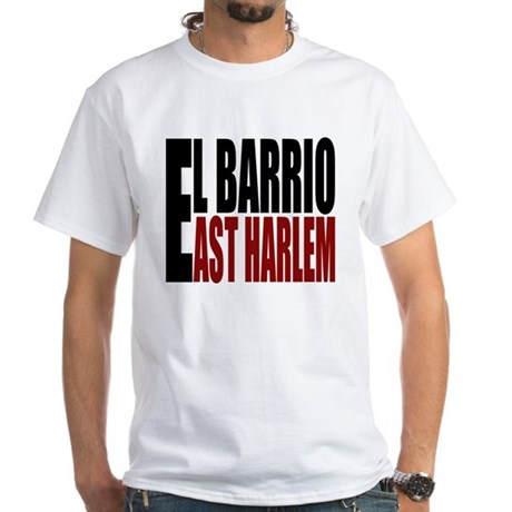 """CLICK HERE"" EL BARRIO White T-Shirt"