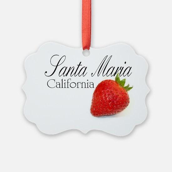Santa Maria California Strawberri Ornament