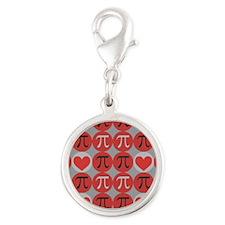 Love Pi Silver Round Charm