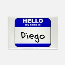 hello my name is diego Rectangle Magnet