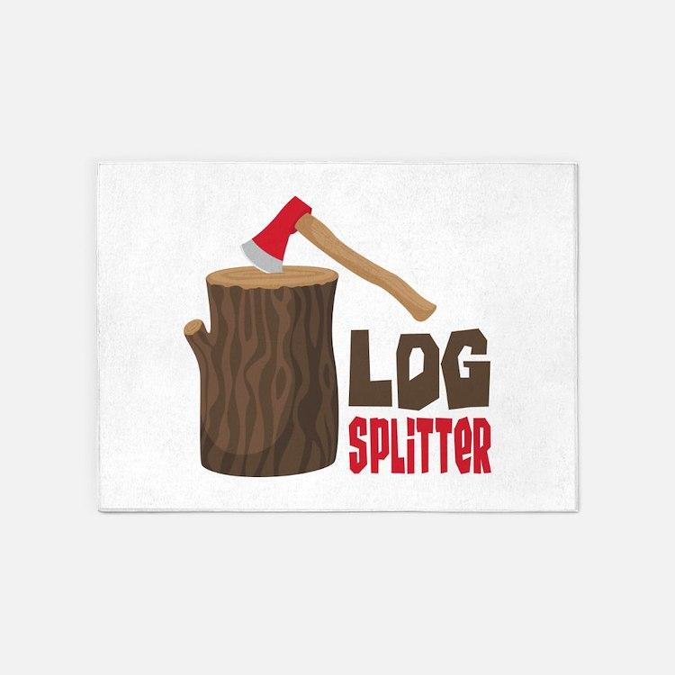 LOG SPLiTTeR 5'x7'Area Rug