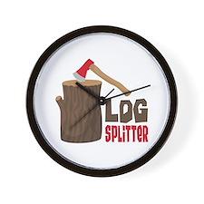 LOG SPLiTTeR Wall Clock