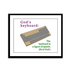 God's keyboard Framed Panel Print