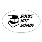 Books Not Bombs Oval Sticker