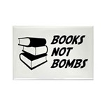 Books Not Bombs Rectangle Magnet (10 pack)