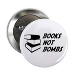 "Books Not Bombs 2.25"" Button (10 pack)"