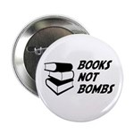 Books Not Bombs Button