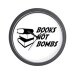 Books Not Bombs Wall Clock