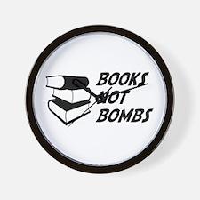 Books Not Bombs Wall Clock
