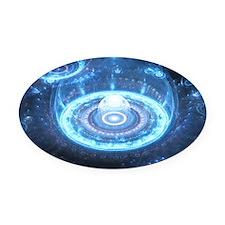 Blue Dom Oval Car Magnet