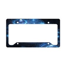 Blue Dom License Plate Holder
