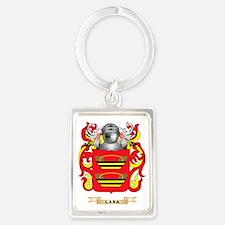 Lara Coat of Arms - Family Crest Portrait Keychain