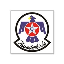 "Thunderbirds Military Square Sticker 3"" x 3"""