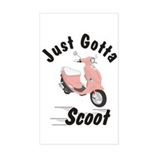 Just Gotta Scoot Pink Buddy Rectangle Decal