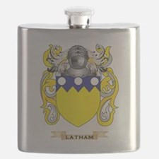 Latham Coat of Arms - Family Crest Flask