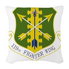 119th FW Woven Throw Pillow