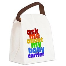 Ask Me About My Baby Carrier - no Canvas Lunch Bag