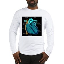 dr heart_diagram lr d Long Sleeve T-Shirt