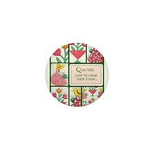 Garden Quilt Mini Button