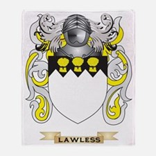 Lawless Coat of Arms - Family Crest Throw Blanket