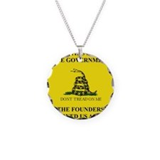 THIS IS THE GOVERNMENT THE F Necklace Circle Charm