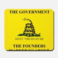 THIS IS THE GOVERNMENT THE FOUNDERS WARN Mousepad